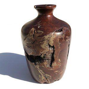 Vintage Burl Wood Vase Hand Turned Organic